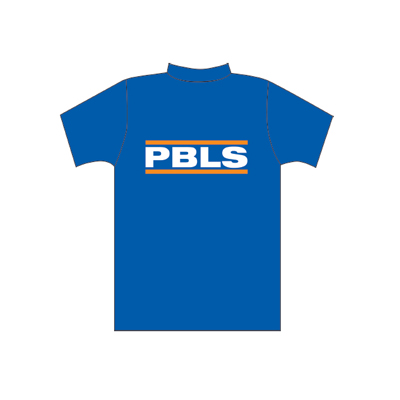 Spencer Blue T-shirt with PBLS logo