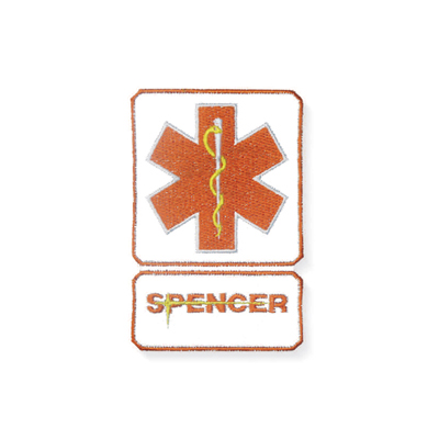 Spencer Star of Life arancio con scritta Spencer