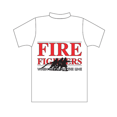 Spencer T-shirt bianca con logo Fire Fighters