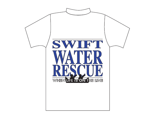 T-shirt branca com logótipo Swift Water Rescue