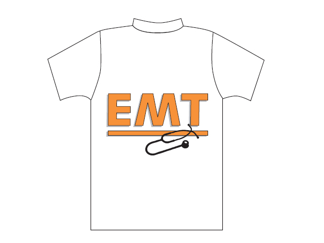 White T-shirt with EMT logo