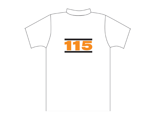 White T-shirt with 115 logo