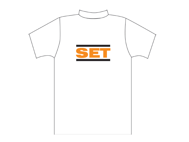 White T-shirt with SET logo