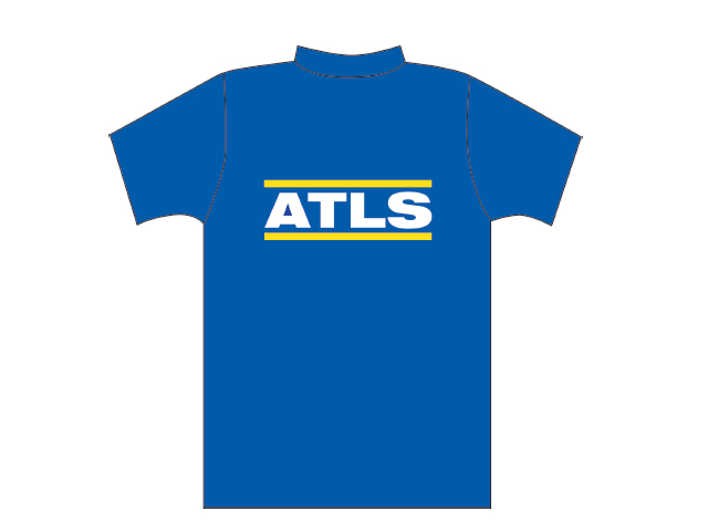 Blue T-shirt with ATLS logo