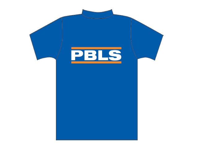 Blue T-shirt with PBLS logo