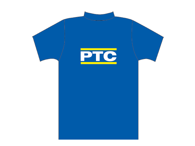 Blue T-shirt with PTC logo