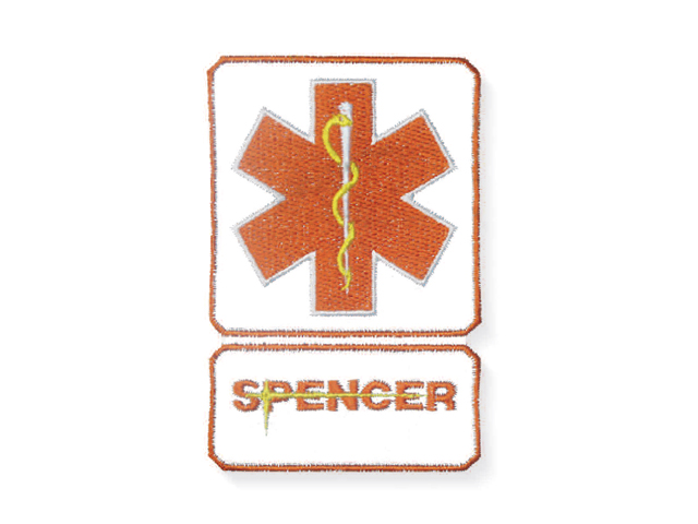 Star of Life naranja con logo Spencer